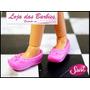 Lindo Sapato Rosa Para Boneca Susi Antiga ! * Sapatinho