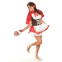 Fantasia Chapeuzinho Adulto Feminino Completa Capa C/gorro