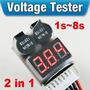 Alarme Voltagem Baixa P/ Bateria Lipo 2s -8s Medidor Digital
