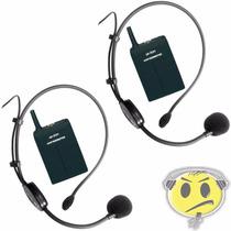 Microfone Headset Sem Fio Duplo Leson Auricular Kadu Som