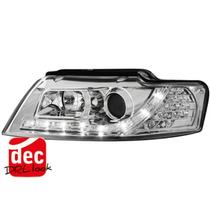 Tuning Imports Par De Farol Projector Drl R8 Audi A4 02/04
