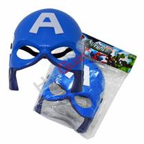 Mascara Capitão América Vingadores Festa Fantasia Haloween