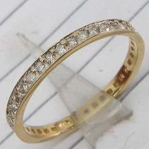 Ivi1388 = Anel/aliança Vivara Ouro Amarelo 18k ,diamantes !!