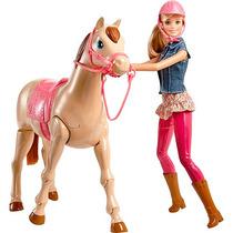 Boneca Barbie Family Com Cavalo - Mattel