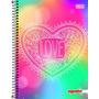 Caderno 1 Matéria 96 Fls Linha Mais+ Feminino Love 2016