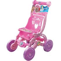 Carrinho Infantil Para Bonecas Princesas 2390 - Lider