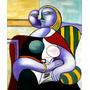 Pintura Abstrata A Leitura 1932 Pintor Picasso Tela Repro