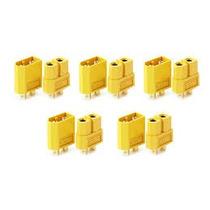 Conector Xt60 Com 5 Casais. ( 10 Peças)