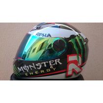 Capacete Monster Energy Rpha Jorge Lorenzo Premium Abs Df2