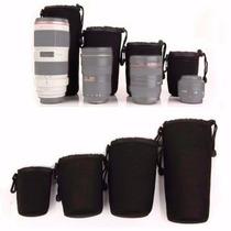 Kit Com 4 Porta Lente E Suspensórios Dslr Sony Canon Nikon