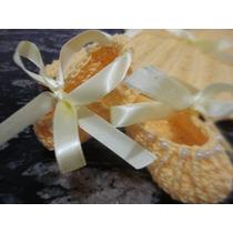 Conjunto De Vestido Saspatinho E Coroa Croche (feito A Mão)