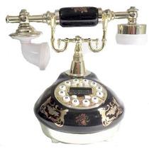 Lindo Telefone Preto Vintage Antigo Retro Decoração - Oferta
