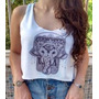 Camisa Ganesha - Hippie Vintage Boho Cropped