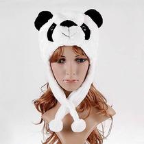 Touca Gorro Bichinhos Pelucia Panda Feminino Toca Fantasia