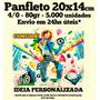 Panfleto 80gr 5.000 Unid. 14x20cm - 4/0 - 24hs* Arte Grátis