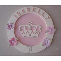 Enfeite Porta Maternidade Princesa/coroa