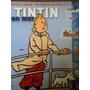 Livro Ilustrado Tintin En Mer- Autocollants Repositionnables