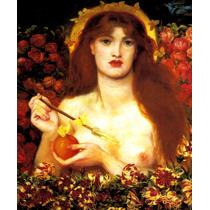 Vênus Deusa Do Amor Nua No Jardim Pintor Rossetti Tela Repro