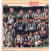 Ceará: Campeão Cearense 1989 - Pôster Da Placar