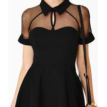 Vestido Renda Transperante - Importado