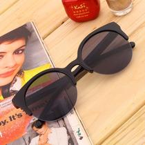 Óculos De Sol Gato Gatinho Cat Eye Redondo Proteção Uv
