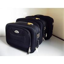 Kit Com 3, Malas Executivas Porta Canetas E Notebook Premium