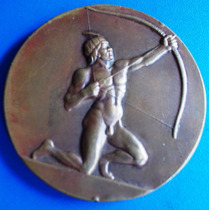 Medalha Bronze-1ª Olimpiada Do Exercito-1949- 55 Mm-