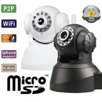 Camera Ip Wireless Seguranca Visão Noturna Con Via Internete