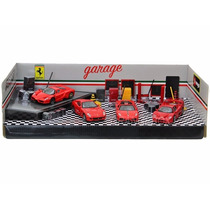 Kit Garage Play Set + 04 Ferrari 1:43 Bburago 31214