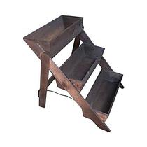 Jardineira Escada De Madeira Rústica