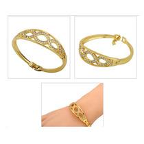 Bracelete Pulseira Metal Dourada