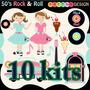 10 Kits Musica Scrapbook Papel Digital 233 Imagens + Brinde