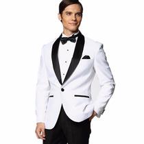 Ternos Masculino Slim Blanco /preto Jacket +pants Importado