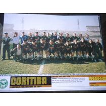 Poster Placar Coritiba Campeão Paranaense 1999 21x27 Cm