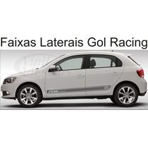 Kit Completo De Adesivos Faixas Laterais Novo Gol G6