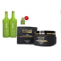 Kit Inoar Argan Oil Hidratação Shampoo/cond/mascara