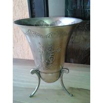 Vaso Em Metal Espessurado À Prata (only Wood)