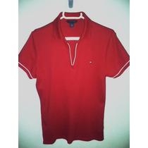 Camisa Tommy Polo Feminina Vermelha - Tm G -importada