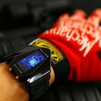 Relógio Pulso Sport Preto Led Azul Novo Design