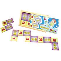 Jogo Domino Subtração Em Mdf Cod. 1019 Carlu 28peças