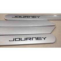 Friso Lateral Dodge Journey Prata Cor Original