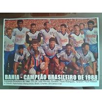 Poster Do Bahia - Campeão Brasileiro 1988