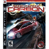 Need For Speed Carbon Ps3 Original Lacrado Pornta Entrega