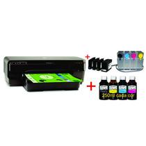 Impressora Hp 7110 + Bulk+tinta Pigmentada+kit 500ml 4 Cores