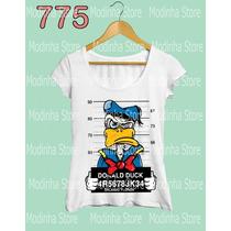Tshirt Camiseta Feminina Estampa Pato Donald Swag Preso Cela