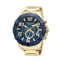 Relógio Technos Legacy Os20iq/4a Dourado Com Fundo Azul