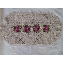 Conjunto Floral P/ Banheiro De Crochê Em Barbante Artesanal