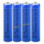 4 Pilha Aaa Recarregável 1800mah 1,2v Nimh Bateria Sony