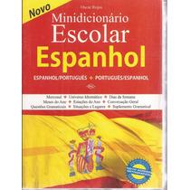 Livro Minidicionário Escolar Espanhol Oscar Rojas