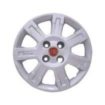 Jogo Calota Aro 14 Strada Trekking - 4 Peça Com Emblema Fiat
